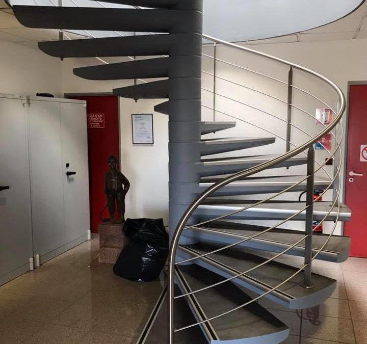 Escalier métallique à Strasbourg